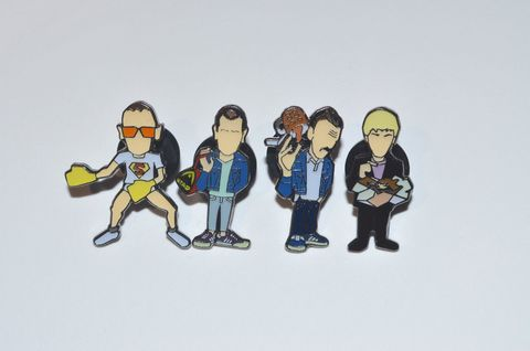 Trainspotting,mk,2,pin,set,Limited,Edition,Pin Badge , Trainspotting , Renton , Begbie , Spud , Sick Boy , Film , Artwork , illustration , design , subculture