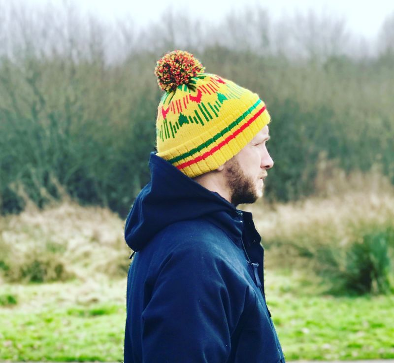 YELLOW 91' Bobble hat - product images  of