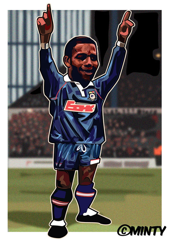 Cardiff City Nathan Blake Print.  - product images