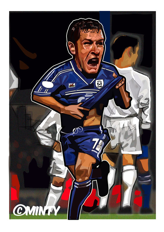 Cardiff City Scott Young Print.  - product images