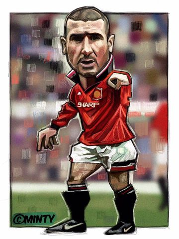 Cantona.3,Print.,cantona , man utd , Manchester United , football , old trafford , the king , Eric the king , iPad peo, illustration , artwork , Wales , faw , vector , design