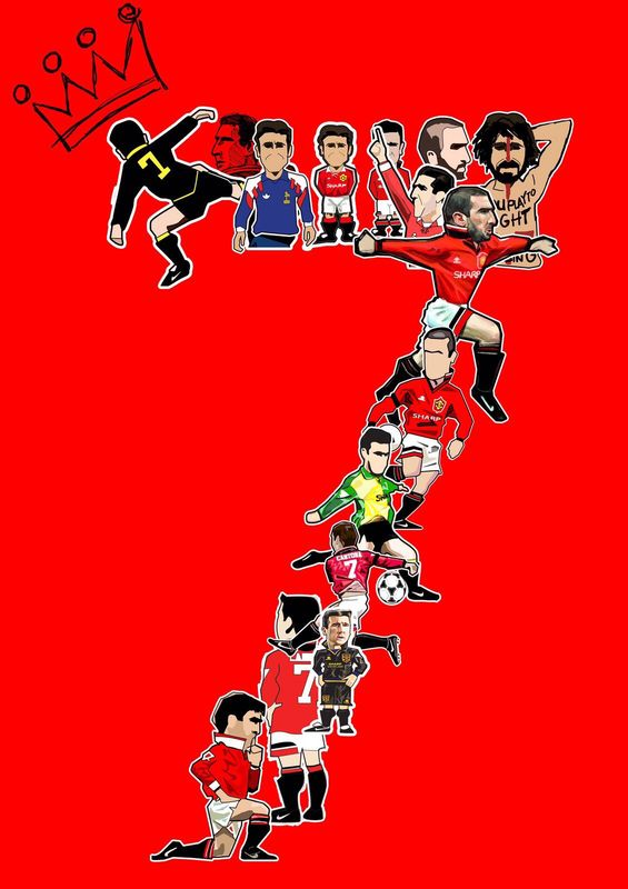 Cantona 7s Print.  - product images