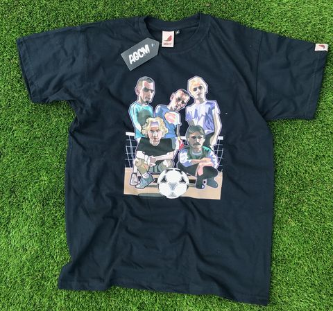 Trainspotting,5s,.........Tshirt..,subutteo , football , illustration , design , art , artwork , world cup , pirlo , laudrup , gazza , zidane , rush , souness , gullit , puyol
