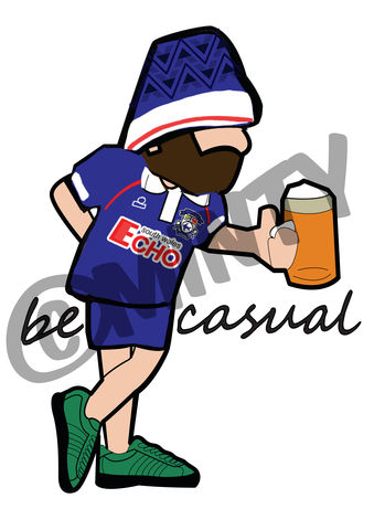 Cardiff,City,BE,CASUAL,Print.,Cardiff City  , Football , football league , illustration , design , be casual