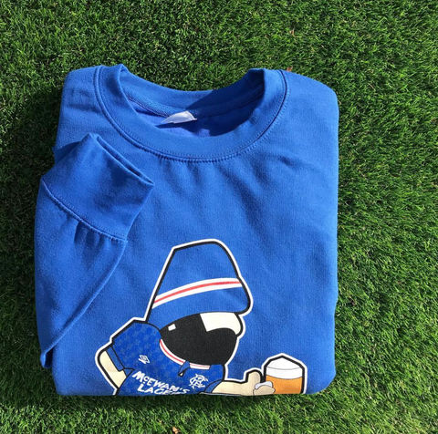 Rangers,Be,Casual,Sweatshirt,rangers , Scotland  , italy ,Twin Town factory records, madchester, aguycalledminty, art, illustration, tony wilson, FAC51