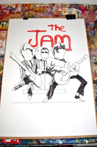The,Jam,Original,A2,The Jam, Paul Weller, Agucalledminty, MOD, Weller Artwork, Illustration, Love