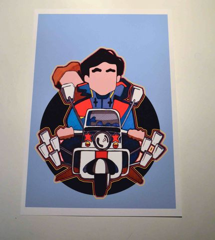 Jimmy,Mark,2,A3,print.....,quadrophenia, jimmy, aguycalledminty, illustration, scooter, vespa, mod, lambretta