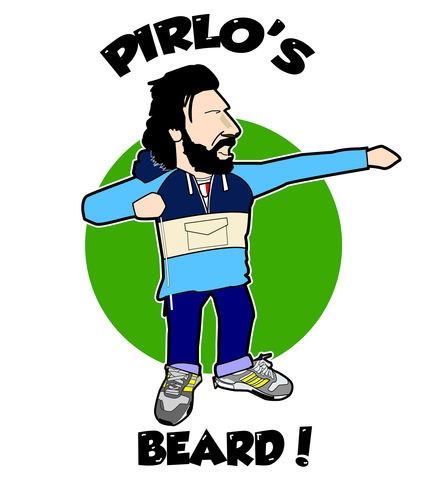 Pirlo's,Beard,print.......,Pirlo , italy,  football ,  casual , icon , , aguycalledminty , illustration , artwork , print