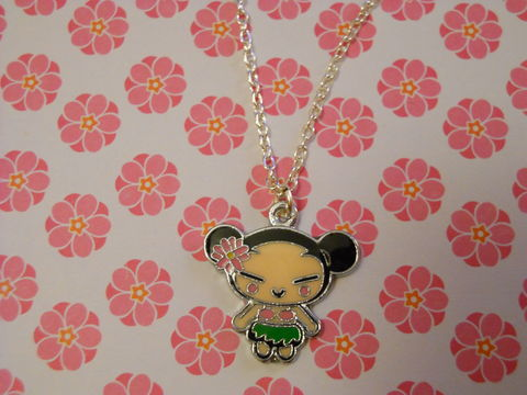 Green,Harajuku,Lover,Necklace,kawaii Harajuku Lovers style Japanese girl silver gold necklace chain cute pendant