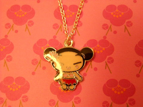 Red,Harajuku,Lover,Necklace,kawaii Harajuku Lovers style Japanese girl silver gold necklace chain cute pendant