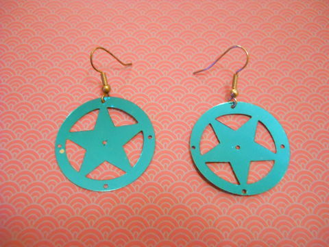 Turquoise,Superstar,Earrings,Blue Turquoise Star Earrings kawaii