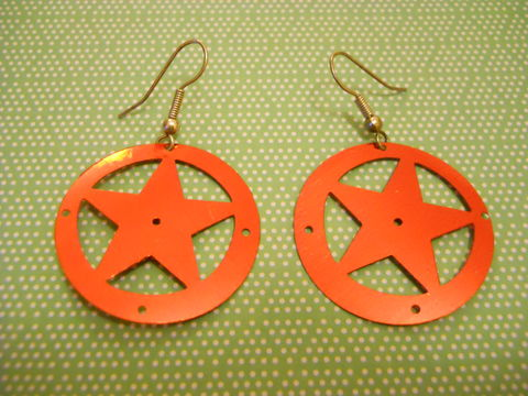 Red,Superstar,Earrings,Red Star Earrings sequin kawaii