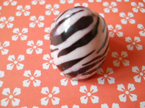 Zebra,Ring,white black zebra print animal print plastic chunky ring