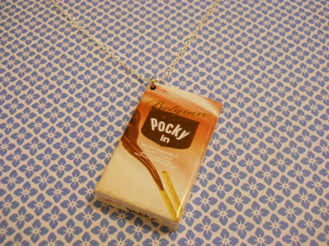 Belgian,Pocky,Necklace,kawaii food chocolate sweets candy harajuku pocky necklace silver gold