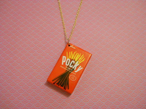 Original,Pocky,Necklace,kawaii fruit food chocolate sweets candy harajuku pocky necklace silver gold