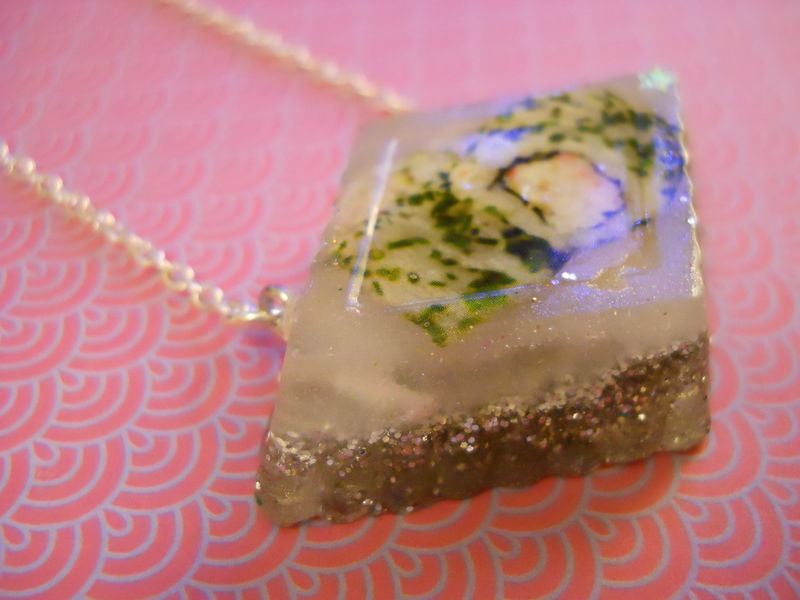 Silver Prawn Maki Resin Necklace - product images  of
