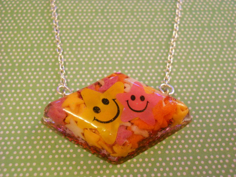 Candy Stars Diamond Resin Necklace - product images  of