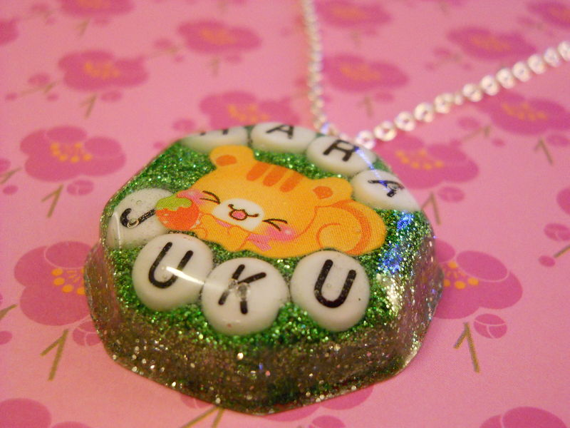 Sleeping Cat Resin Necklace - product images  of