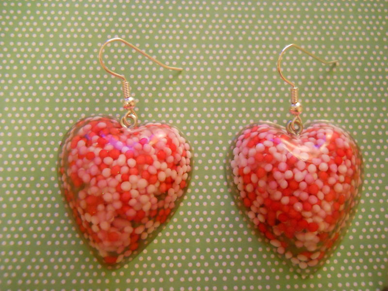 Candy 100s and 1000s Love Resin Earrings - product images  of