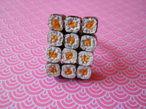 Maki,Sushi,Ring,harajuku kawaii maki sushi food silver ring jewellery