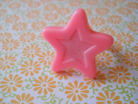 Pink,Chocolate,Star,Ring,harajuku kawaii pink chocolate star silver ring jewellery