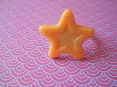 Orange,Chocolate,Star,Ring,harajuku kawaii orange chocolate star silver ring jewellery