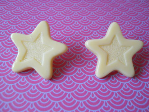 White,Chocolate,Star,Earrings,harajuku kawaii white chocolate stars stud earrings