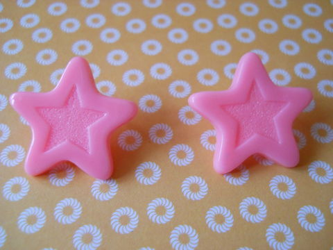Pink,Chocolate,Star,Earrings,harajuku kawaii pink chocolate stars stud earrings