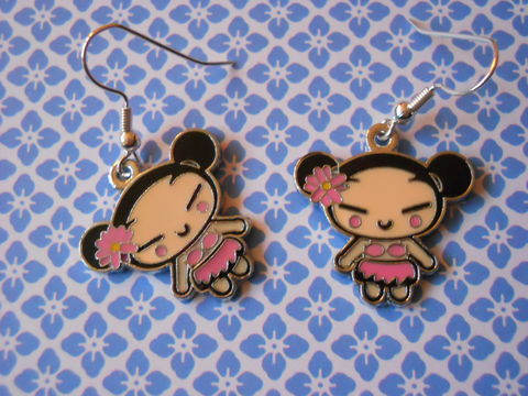 Pink,Harajuku,Lovers,Earrings,harajuku kawaii pink cute harajuku lovers drop earrings
