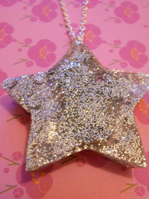 Silver Star Orange Dog Necklace - product images  of