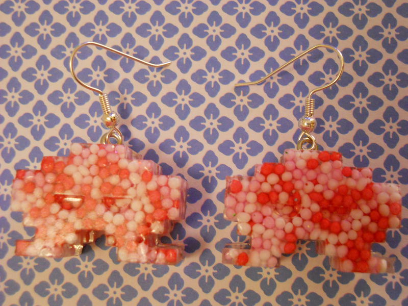 Love Candy Space Invaders Resin Earrings - product images  of