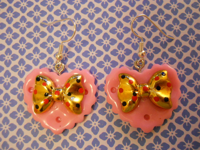 Pink Double Whammy Earrings - product images  of