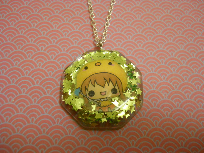 Sparkly Green Stars with Kawaii Fairy Octogan Necklace - product images  of
