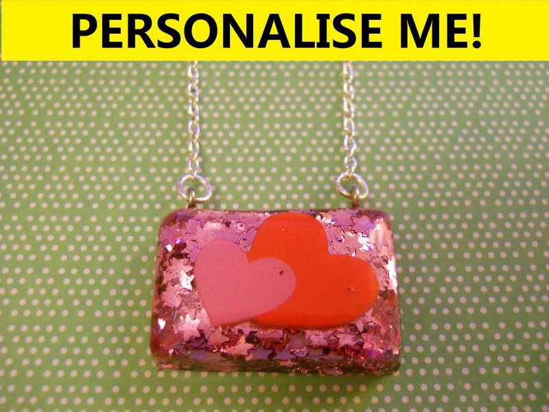 Personalised Rectangle Necklace - product images  of