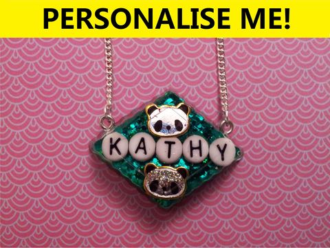 Personalised,Chocolate,Diamond,Necklace,personalised jewellery, kawaii jewellery, customised jewellery, personalised necklace, heart necklace, double whammy necklace, harajuku boutique necklace, harajuku boutique, name necklace, design your own jewellery