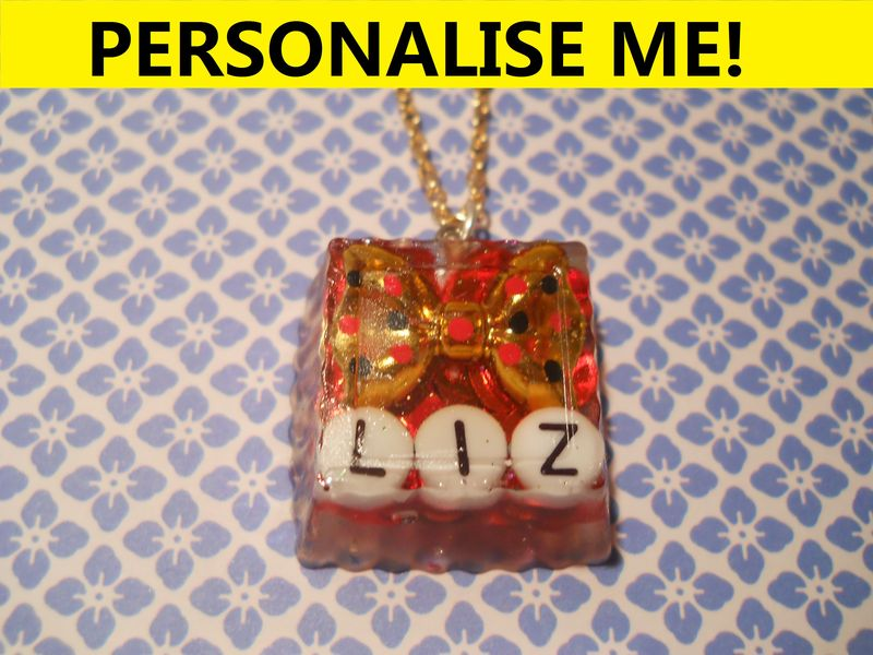 Personalised Square Necklace - product images  of