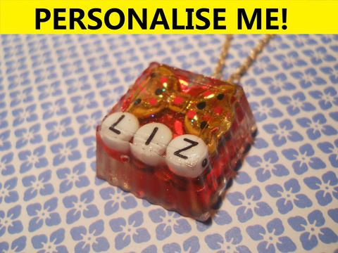 Personalised,Square,Necklace,personalised jewellery, kawaii jewellery, customised jewellery, personalised necklace, heart necklace, double whammy necklace, harajuku boutique necklace, harajuku boutique, name necklace, design your own jewellery