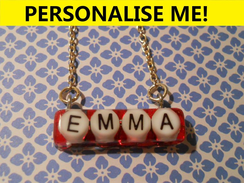 Personalised Short Rectangle Necklace - product images  of