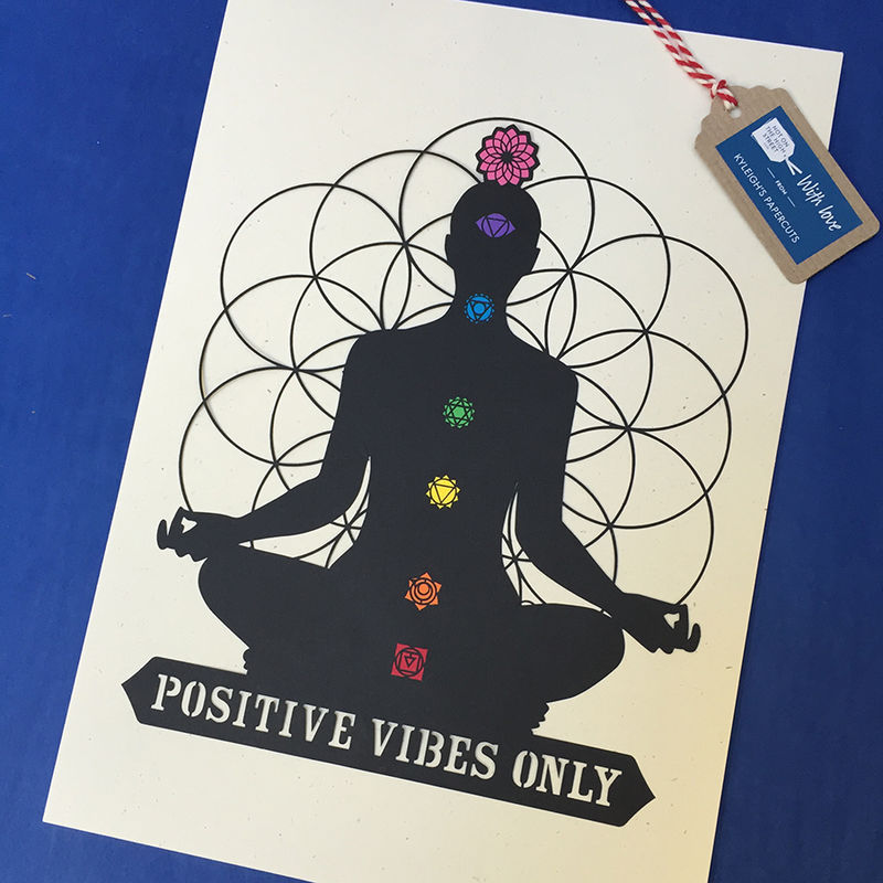 Positive Vibes Papercut - product image