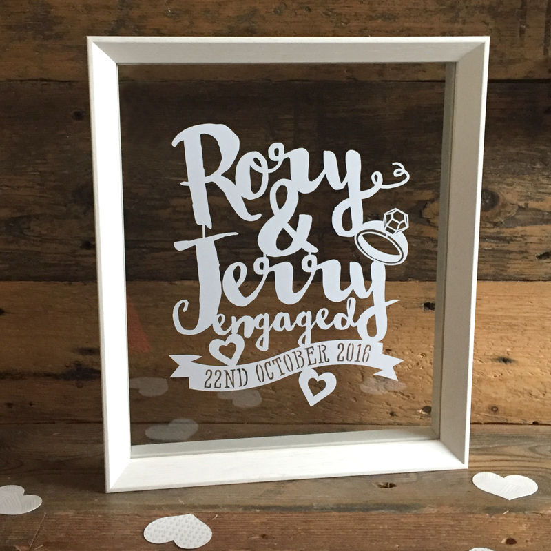 Engagement Script Names Papercut - Kyleigh\'s Papercuts