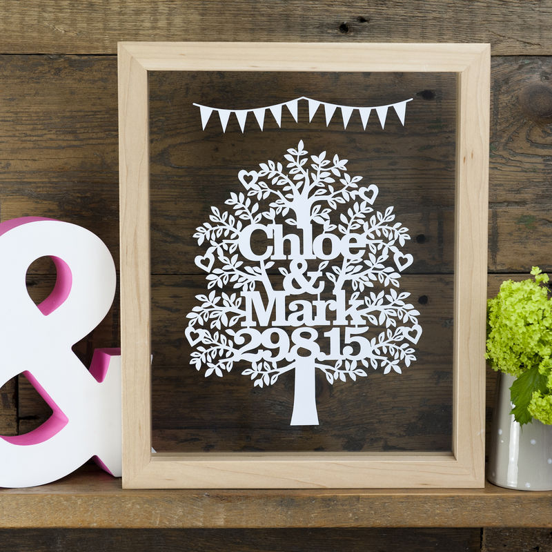 Personalised Wedding or Anniversary Tree - product image