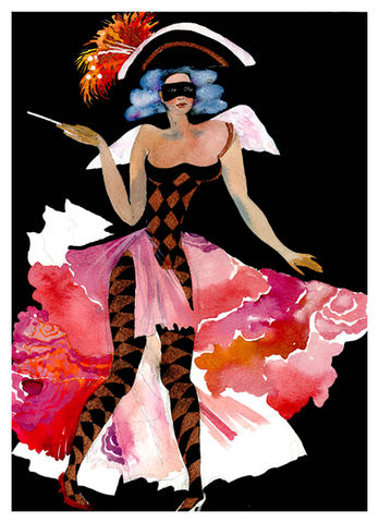 Smoking,Colombina,Limited Edition Hand Finished Prints, lelic