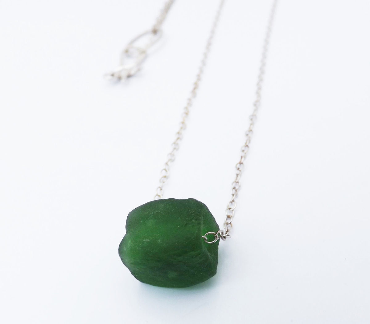 recycled bottle bead necklace - product images  of