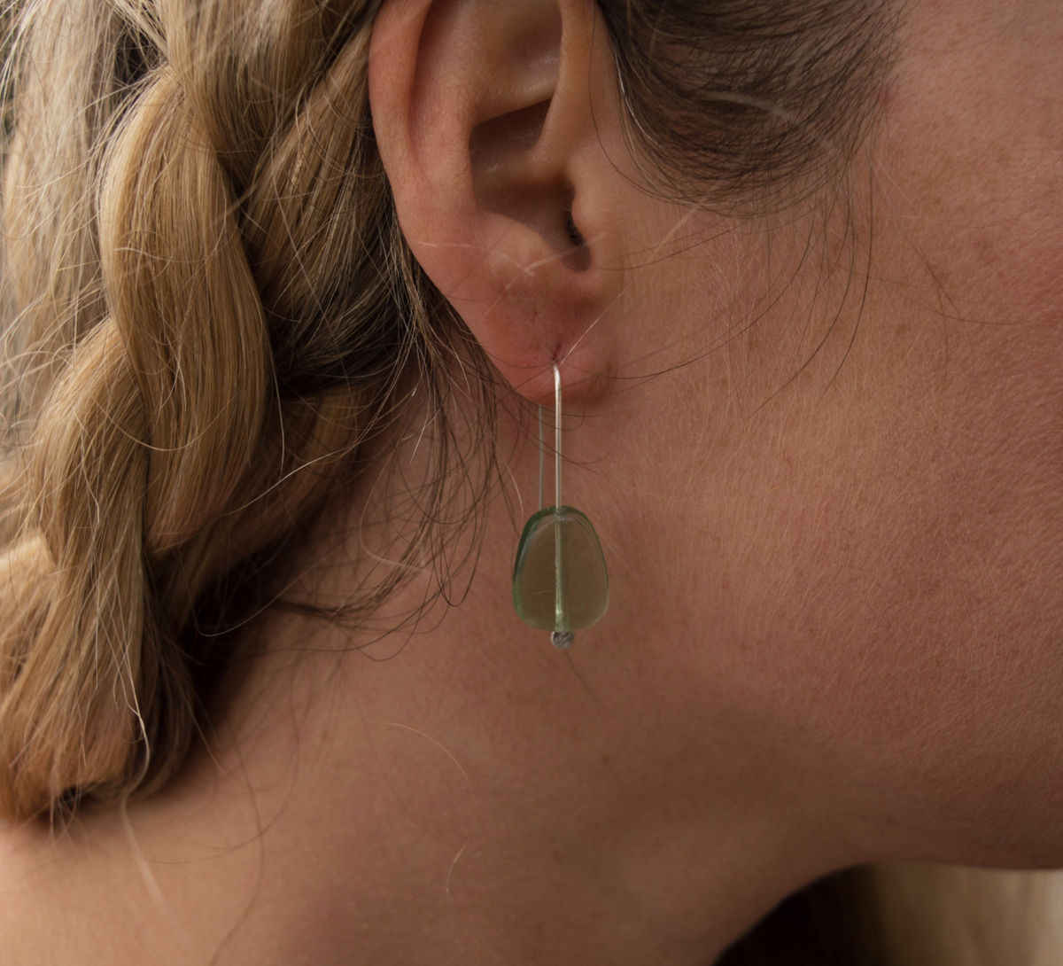 green glass earrings - product images  of