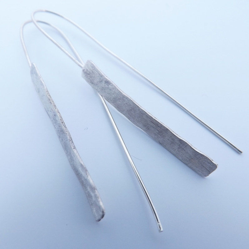 hammered drop earrings - product images  of