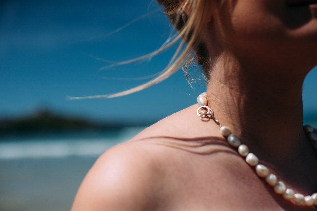 large freshwater pearl necklace - product image