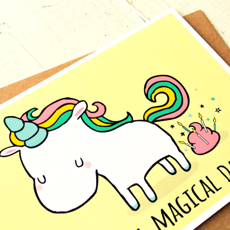 greeting card set  funny greeting cards  funny cards  unicorn, Birthday card