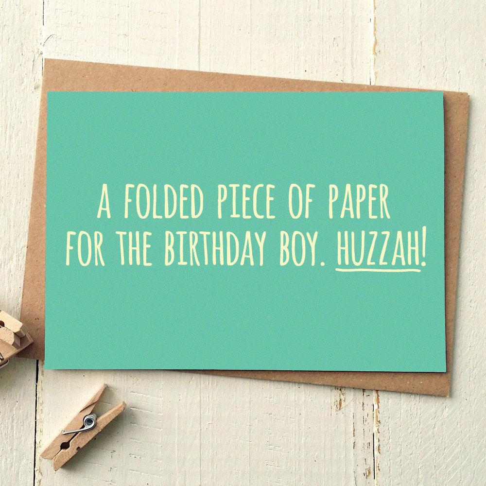 funny birthday card  funny friend card  card for boyfriend, Birthday card