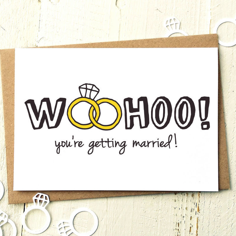 Funny Wedding Card Engagement Card Wedding Day Cards Getting – Funny Wedding Wishes Cards