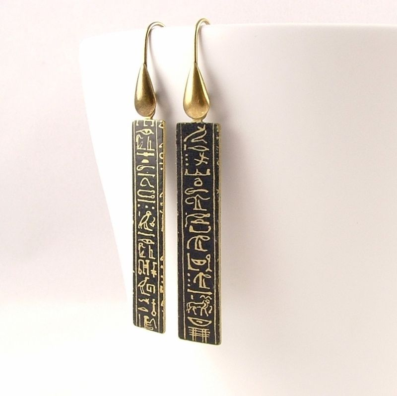 Ancient Egyptian Hieroglyphic Earrings - Jezebel Charms